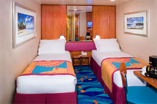 Inside cabin on Norwegian Gem