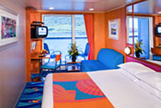 Balcony cabin on Norwegian Jade
