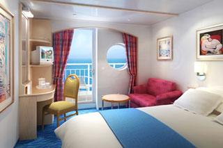 Balcony cabin on Norwegian Sky