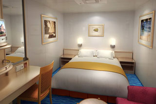 Inside cabin on Norwegian Sky