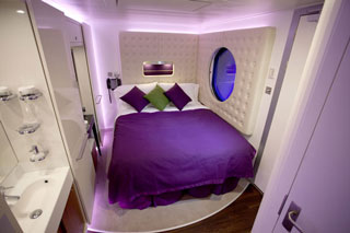 Inside cabin on Norwegian Epic