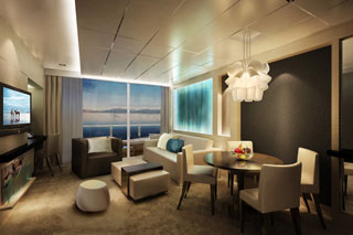 Suite cabin on Norwegian Getaway