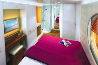 Inside cabin on Norwegian Getaway