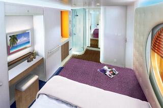 Inside cabin on Norwegian Escape