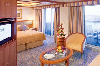 Suite cabin on Coral Princess