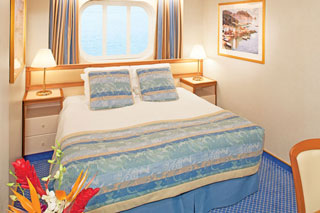 Oceanview cabin on Caribbean Princess