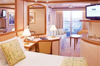 Suite cabin on Crown Princess
