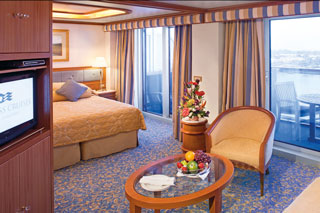 Suite cabin on Emerald Princess