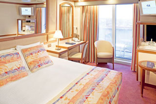 Balcony cabin on Ruby Princess