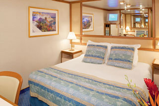 Inside cabin on Ruby Princess