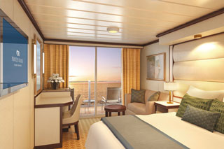 Balcony cabin on Royal Princess