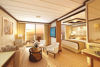 Suite cabin on Royal Princess