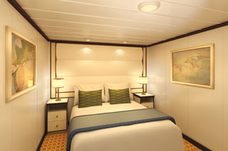 Inside cabin on Regal Princess