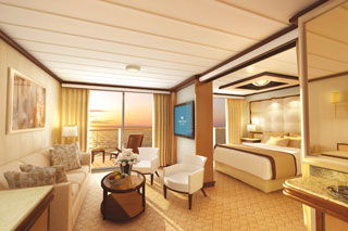 Suite cabin on Regal Princess