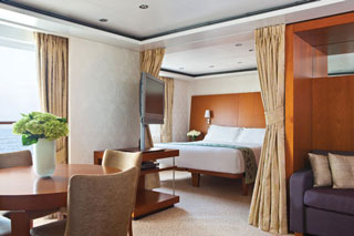 Suite cabin on Seven Seas Voyager