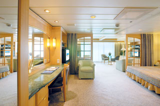 Suite cabin on Legend of the Seas