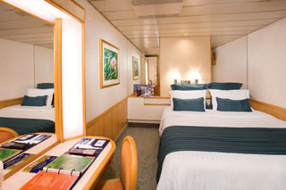 Inside cabin on Majesty of the Seas