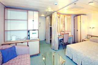 Family Oceanview Stateroom on Rhapsody of the Seas