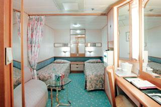 Inside cabin on Splendour of the Seas