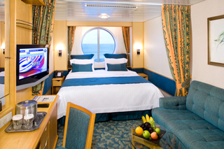 Oceanview cabin on Serenade of the Seas