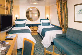 Inside cabin on Independence of the Seas
