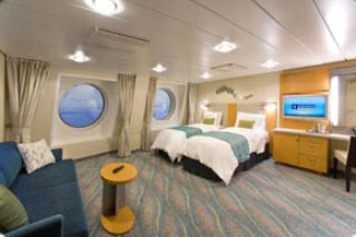 Oceanview cabin on Oasis of the Seas