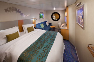 Inside cabin on Allure of the Seas