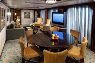 Suite cabin on Allure of the Seas