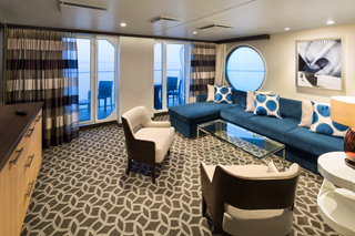 Suite cabin on Anthem of the Seas