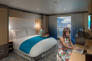 Inside cabin on Quantum of the Seas