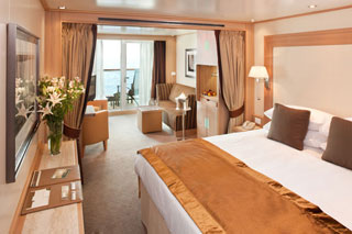 Suite cabin on Seabourn Quest
