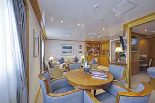 Suite cabin on SeaDream II
