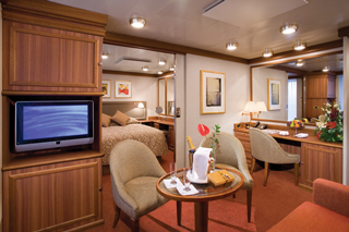 Suite cabin on Silver Explorer