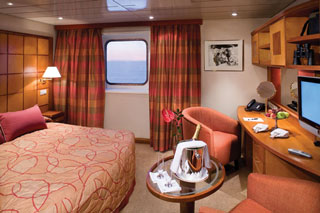 Oceanview cabin on Silver Explorer