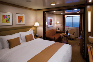 Suite cabin on Silver Spirit