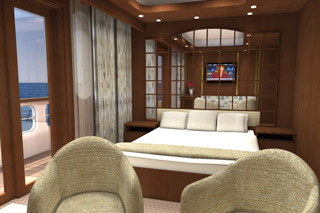 Suite cabin on Silver Galapagos