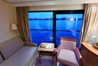 Oceanview cabin on Viking Legend