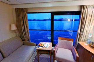 Oceanview cabin on Viking Prestige