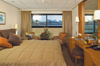 Oceanview cabin on Viking Prestige