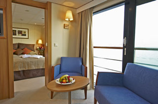 Suite cabin on Viking Prestige