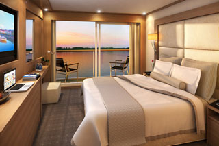 Balcony cabin on Viking Freya