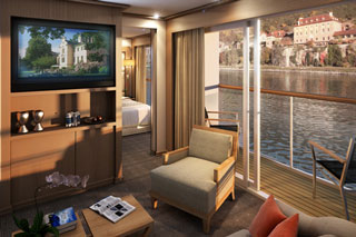 Suite cabin on Viking Freya