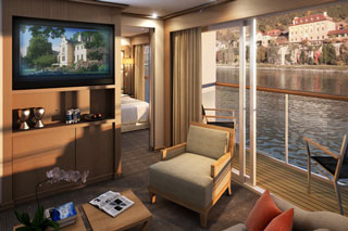 Suite cabin on Viking Embla