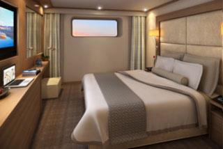 Oceanview cabin on Viking Bragi