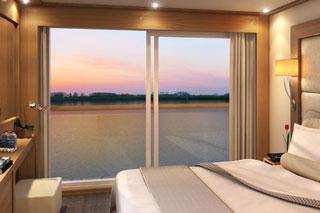 Oceanview cabin on Viking Tor