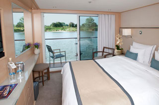 Balcony cabin on Viking Baldur