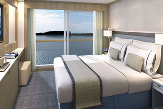 Oceanview cabin on Viking Baldur