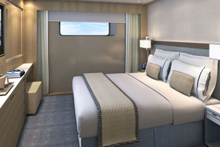 Oceanview cabin on Viking Delling