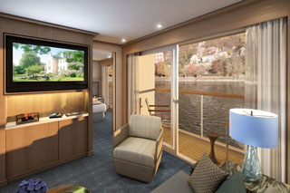 Suite cabin on Viking Lif