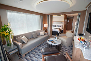 Suite cabin on Viking Kara